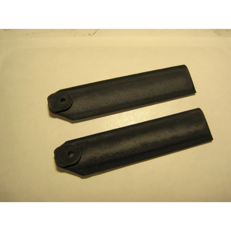 Set of 2 scale tail blades 500 size (75mn)