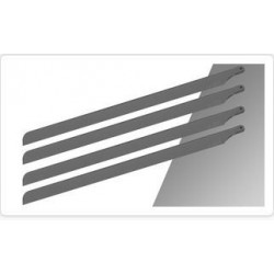 4 Scale Blades SpinBlades for 500 size (435mn) grey