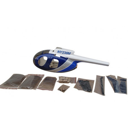 HUGHES 500D Police blue 450 size