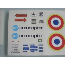 """Sticker set for Alouette 3 """"Force"""" 600 size"""